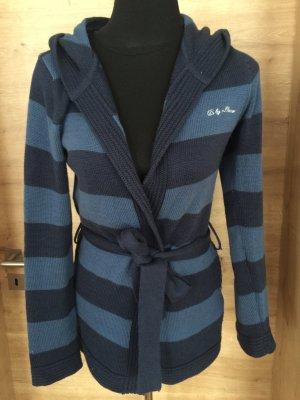 Cardigan Strickjacke Weste blau Gestreift QS Gr M