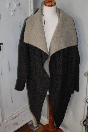 Zara Cardigan gris anthracite-beige coton