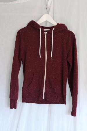 Cardigan Sweater Fussel Bordeaux Nakd Hoodie Kapuze Pullover Sport Gym Bodybuilding Zipper