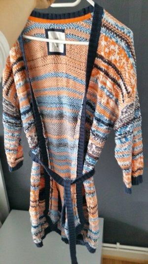 cardigan Überzieher orange blau gr m