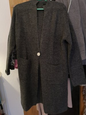 Amisu Manteau en tricot gris-gris foncé