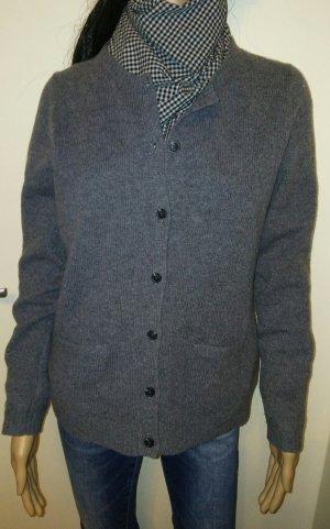 Christian Berg Knitted Cardigan grey-dark grey merino wool