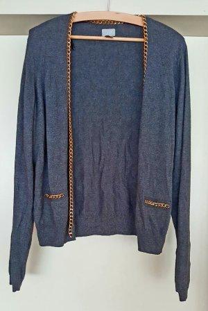 Cardigan von H&M in antrazit mit Kettendetails