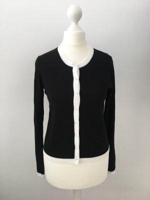 Hallhuber Cardigan noir-blanc