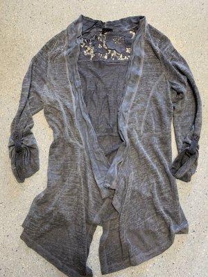 Laura Torelli Cardigan in maglia grigio ardesia