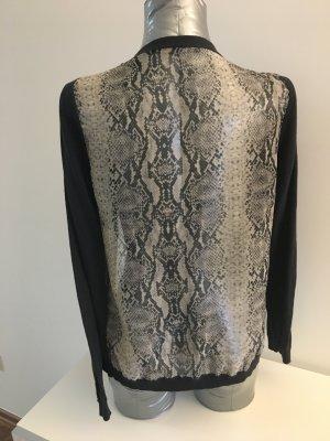 Cardigan von MAISON SCOTCH, transparenter Rücken, vorne anthrazit, Gr 2 / M