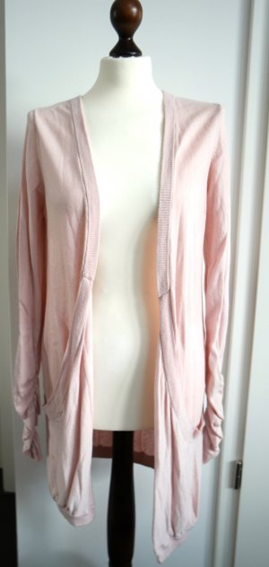Cardigan von Mango in rosa mit Taschen