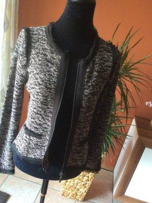 Monari Gilet tricoté blanc-noir