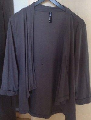 Takko Veste chemise gris anthracite-gris foncé
