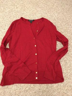 Ralph Lauren Gilet tricoté rouge
