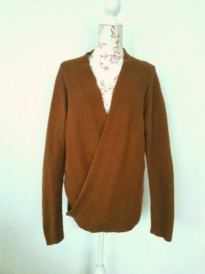 cardigan Wickeloptik strickjacke heavy knit