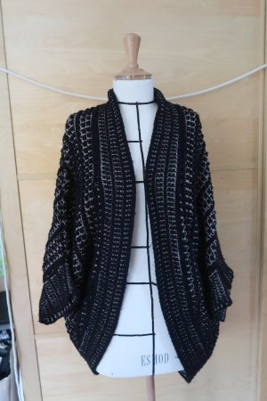 Zara Coarse Knitted Jacket black-gold-colored