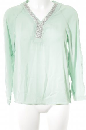 Care of You Glanzbluse mint Casual-Look