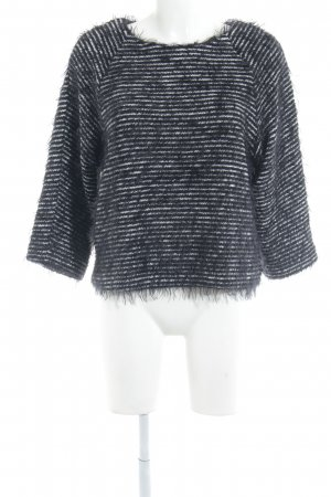 Carell Thomas Knitted Sweater black-white striped pattern casual look