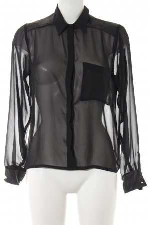 Carell Thomas Transparenz-Bluse schwarz Elegant