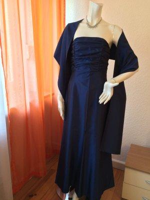 Caren Pfleger Robe de bal bleu élégant