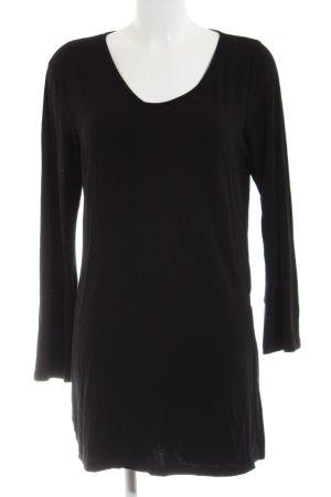 Caren Pfleger Lang shirt zwart zakelijke stijl