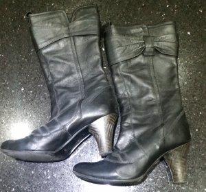 Botas altas negro Cuero
