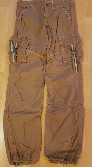 0039 Italy Pantalon cargo marron clair