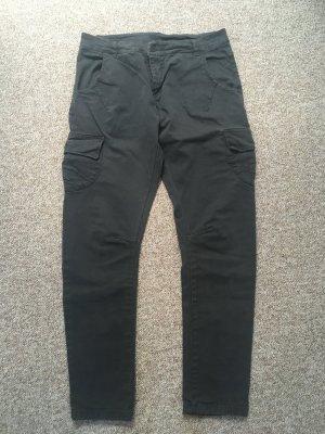 ROAD Pantalone cargo antracite-grigio scuro Cotone