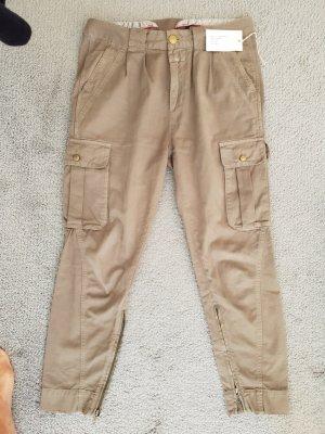 Closed Pantalón de camuflaje gris verdoso-caqui Algodón