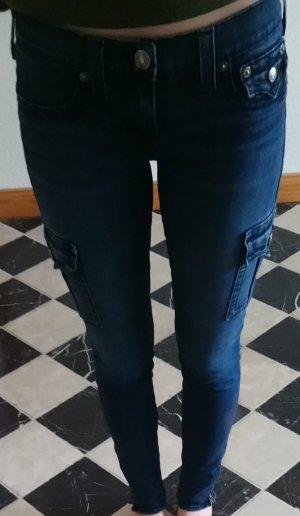 Cargo-Jeans von True Religion, skinny, low waist