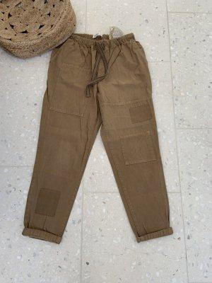 Zara Pantalone cargo marrone-grigio