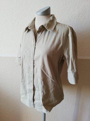 Cargo Safari Bluse Kurzarm 3/4 Arm Bluse Baumwolle khaki beige