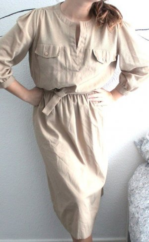 Cargo Safari Dress Kleid Beige Vintage Sommer