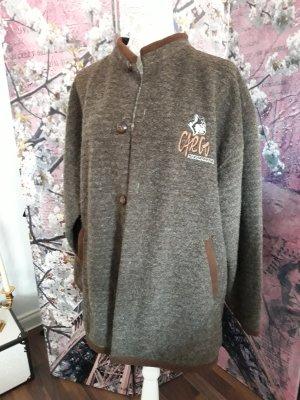 Chaqueta de lana marrón oscuro