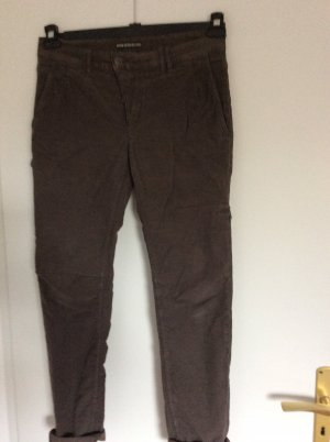 Drykorn Pantalón de camuflaje gris oscuro-caqui Algodón