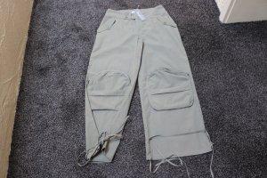 Pantalone cargo grigio-verde Tessuto misto