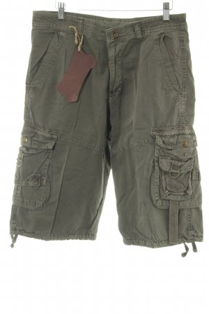 Pantalone cargo grigio-verde stile casual