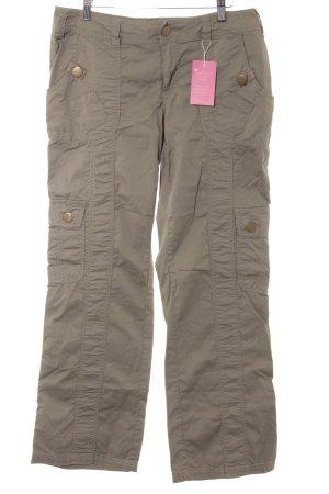Pantalone cargo cachi stile atletico