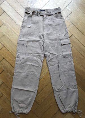 Zara Pantalone cargo beige