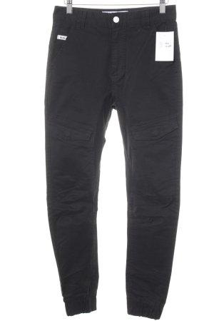 Pantalone cargo nero stile casual