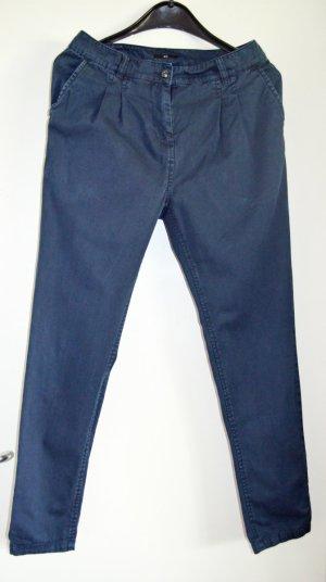 CARGOHOSE von H&M in dunkelblau, Gr. 36, reine Baumwolle