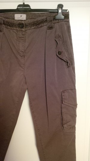 René Lezard Cargo Pants bronze-colored cotton