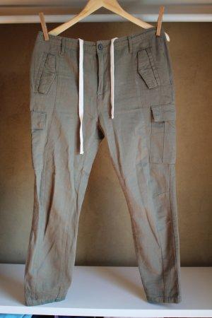 Review Pantalone cargo cachi Tessuto misto