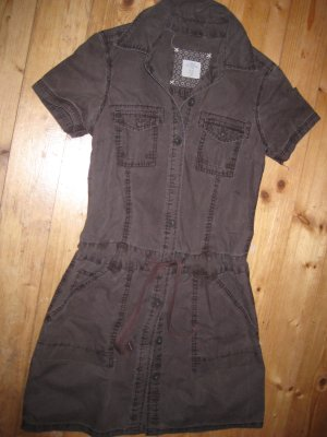 H&M Cargo Dress bronze-colored cotton