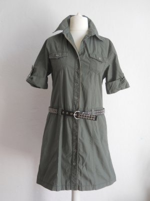 Cargo Dress khaki cotton
