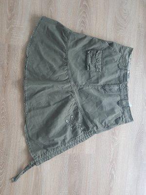 Cargo Skirt green grey