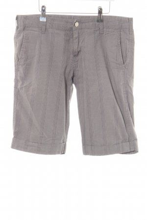 Carhartt Bermudas light grey striped pattern casual look