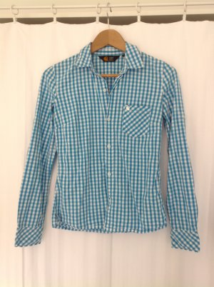 Carhartt Bluse Hemd blau weiß kariert XS 34