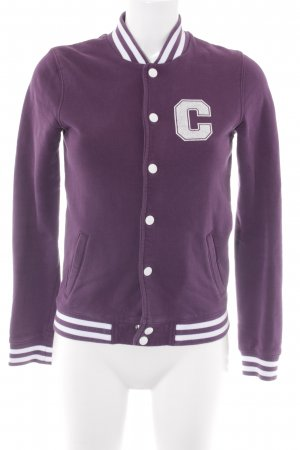 Carhartt Collegejacke dunkelviolett Casual-Look