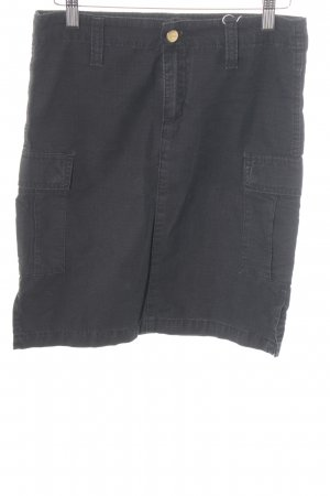 Carhartt High Waist Rock schwarz-dunkelgrau Casual-Look