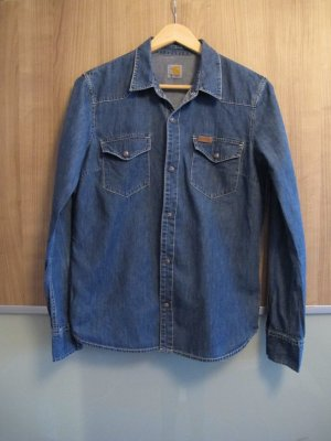Carhartt Jeansheamd Hemd Bluse blau M
