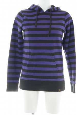 Carhartt Hooded Sweater black-lilac striped pattern casual look