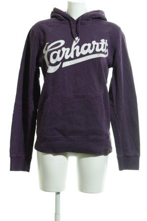 Carhartt Kapuzensweatshirt dunkelviolett-weiß Casual-Look
