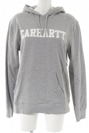 Carhartt Felpa con cappuccio grigio chiaro caratteri stampati stile casual